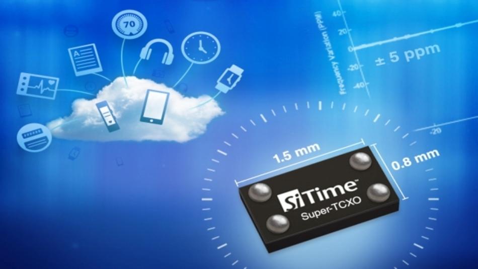 Extrem Platz sparend sind SiTimes MEMS-basierende 32-kHz-Super-TCXOs der SiT156x/7x-Serie im Vertrieb von SE Spezial-Electronic.