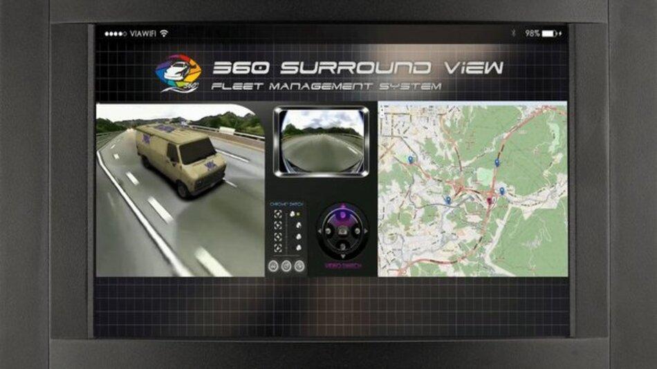 An das VIA Mobile360 Surround View System lasse sich bis zu sechs Kameras anschließen.