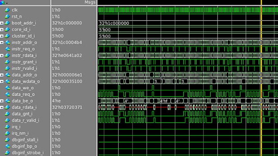 Im Januar 2016 hat UMC bereits ein Tape-out von PULPino auf seinem 65-nm-Prozess gemacht. PULPino steht für die RTL-Simulation aber auch für eine Implementierung in einem FPGA zur Verfügung.