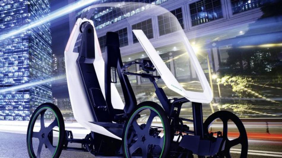 <p>Futuristisches Fahrzeugkonzept: der Bio-Hybrid von Schaeffler.</p>