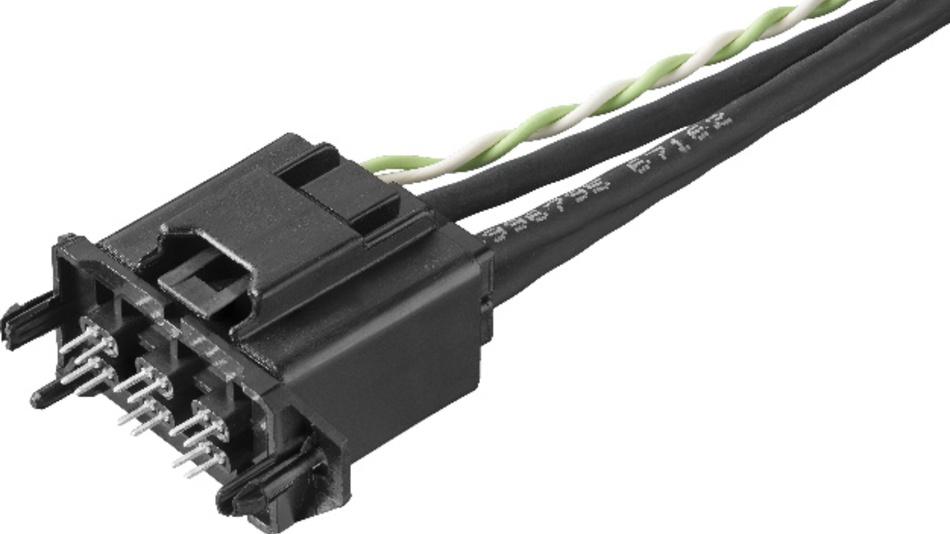 Der kompakte AMEC-Standardkonnektor lässt sich für 100-Mbit/s- und für 1-Gbit/s-Ethernet-Systeme einsetzen.
