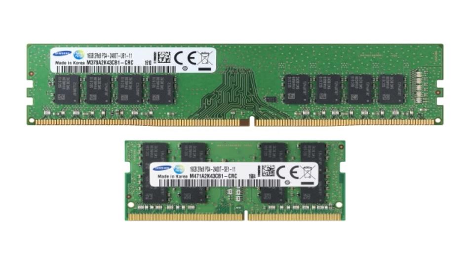 Samsungs 10-nm-Class-DDR4-DRAM-Module haben Kapazitäten von bis zu 128 GByte für Enterprise-Server.