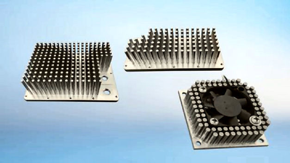 Kalt  fließgepresste Stift-Kühlkörper aus Reinaluminium oder Reinkupfer von CTX besitzen exzellente thermische Eigenschaften.