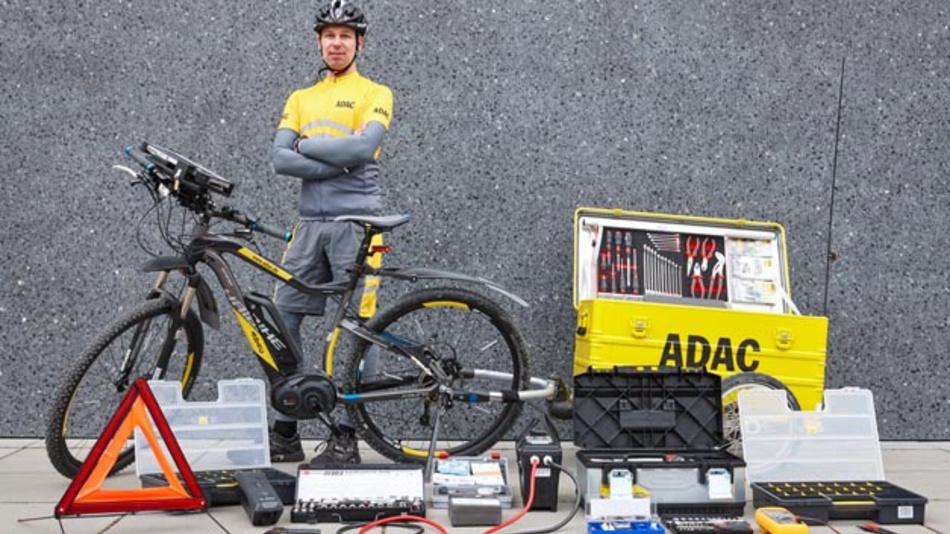 ADAC-Pannenhilfe per Elektrofahrrad