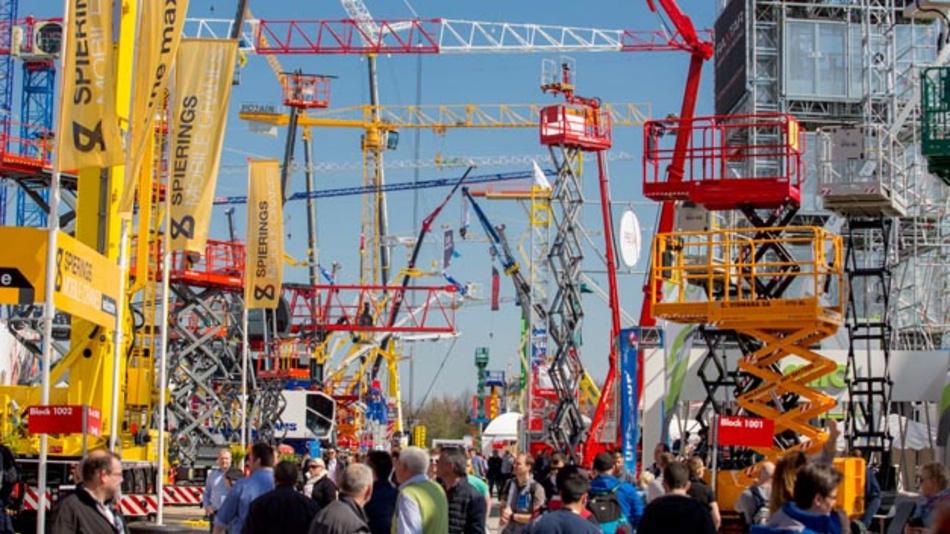 Vom 11. bis 17.April findet in München die weltweit größte Messe für Baumaschinen, Baustoffmaschinen, Bergbaumaschinen, Baufahrzeuge und Baugeräte statt.