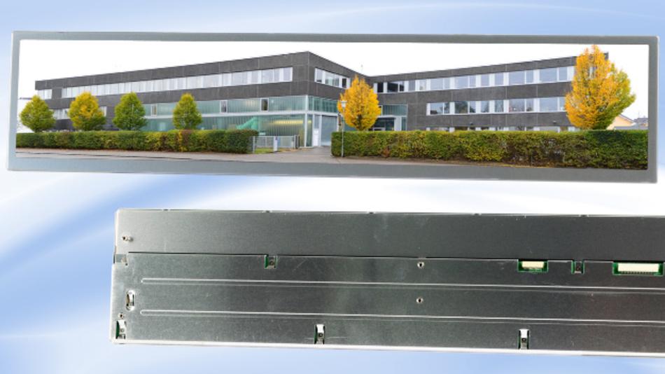 Eine Auflösung von 1920x360 Pixel hat Mitsubishis 19-Zoll-Panoramadisplay AA192AA01 im 16:3-Format.