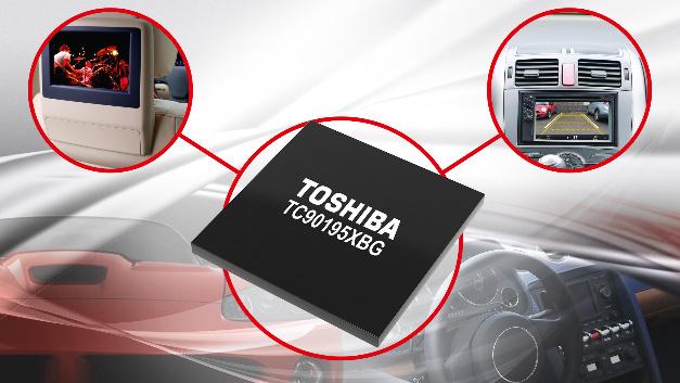 Der TC90195XBG enthält Bildverbesserungs-Schaltkreise, um Bilder mit niedriger Auflösung für Displays mit hoher Auflösung anzupassen.
