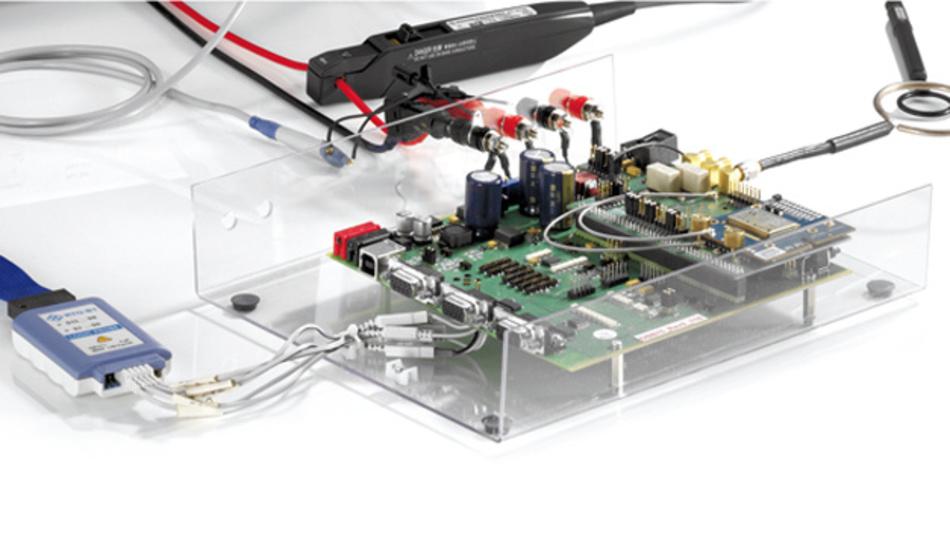 Bild 1: Messungen am GSM-Modul »Cinterion BGS2« von Gemalto
