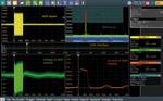 Bild 4: Charakterisierung von Spannung und Strom  während eines GSM-Sendepulses