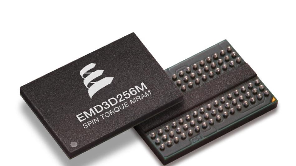 Um den Faktor 4 von 64 auf 256 MBit hat Everspin bei seinem ST-MRAM-IC EMD3D256M die Speicherdichte gesteigert.