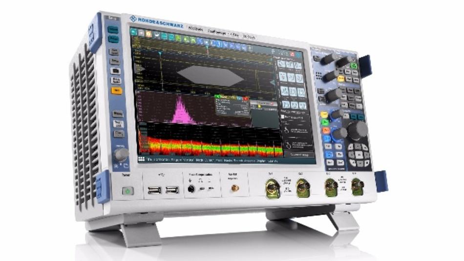 Das R&S-RTO2000-Oszilloskop von Rohde & Schwarz überzeugt mit vielfältigen Messmöglichkeiten und intuitiver Bedienung bei Multi-Domain-Anwendungen.