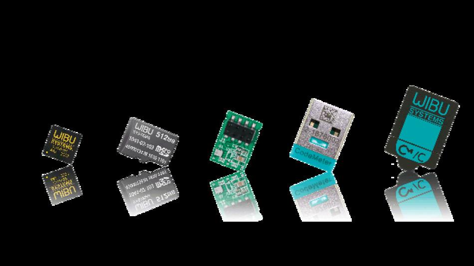 Für das Codemeter-System gibt es verschiedene Hardware-Module zum Schutz der Software.