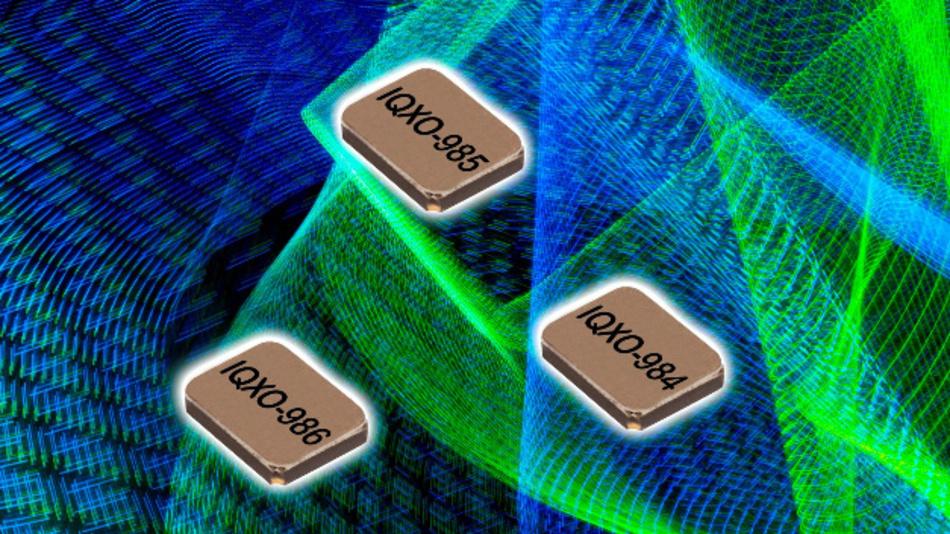 Stromsparend und extrem klein ist IQDs 32-kHz-Quarzoszillator mit einer Frequenzstabilität von ±30 bzw. ±50 ppm.