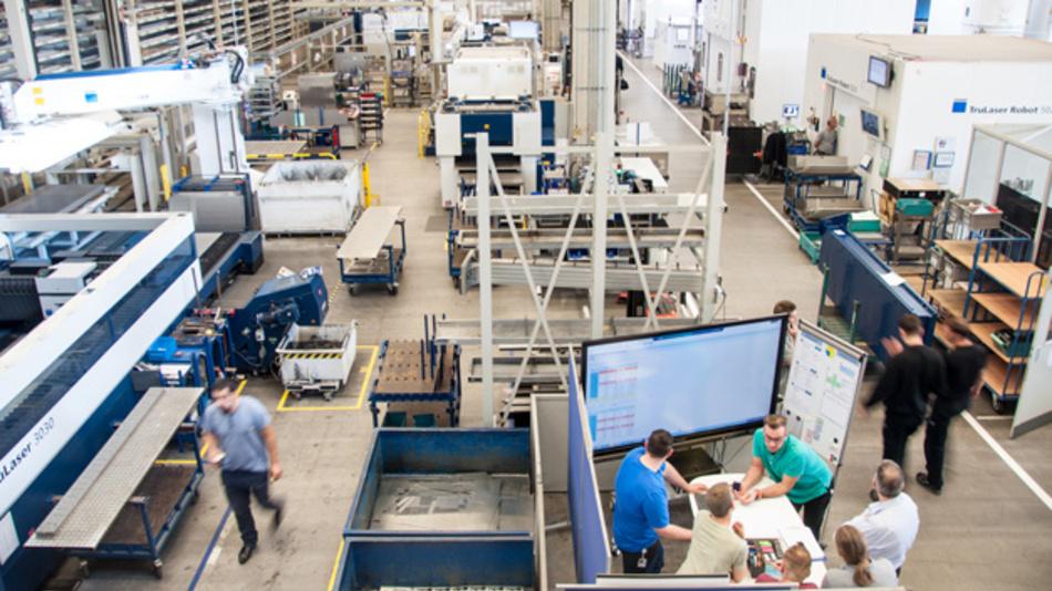 Der Maschinenbauer TRUMPF präsentiert die Produktionseinheit Blech als praktische Umsetzung der Industrie 4.0.