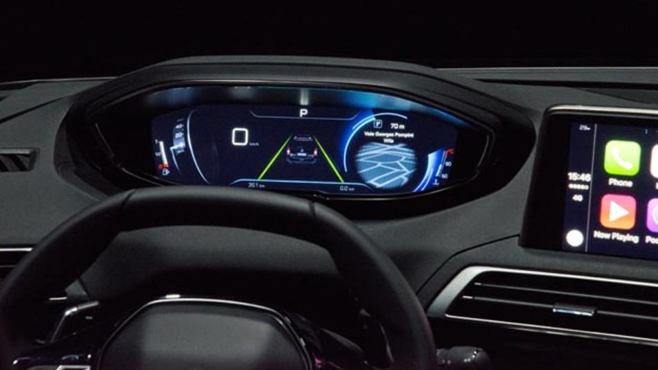 Wie soll der zukünftige Fahrerplatz aussehen? Peugeot zeigt seine Version mit dem neuen iCockpit.
