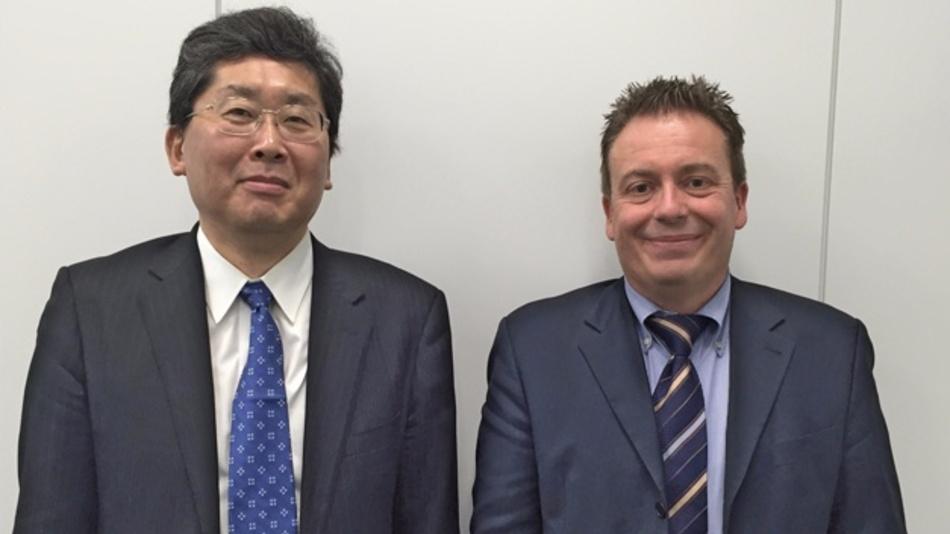 Renesas CTO Hideto Hidaka empfing Chefredakteur Frank Riemenschneider in Renesas neuer Firmenzentrale in Tokio