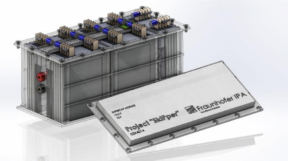 Den Prototyp des Superkondensator-Puffersystems haben die IPA-Wissenschaftler als CAD-Modul realisiert.