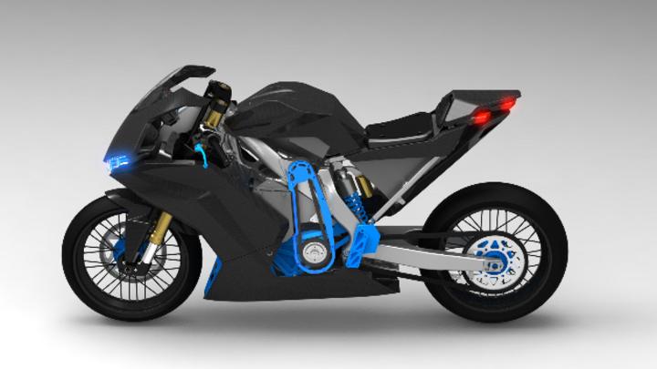 Das GAUSS Elektro-Supersportmotorrad ist auf der Hannover Messe vom 25.04 bis 29.04 in Halle 2, Stand B29, zu sehen.