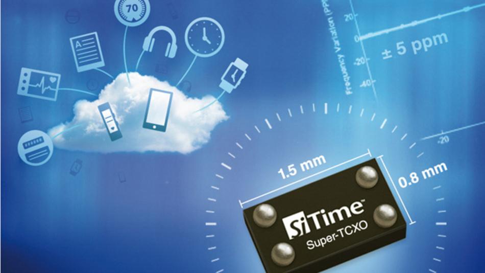 Extrem Platz sparend mit 1,2 mm2 Montagefäche sind SiTimes MEMS-basierende 32-kHz-Super-TCXOs der SiT156x/7x-Serie im Vertrieb von SE Spezial-Electronic. Dank Auto-Kalibrierung werden beim SiT1568 durch Montage- und Lötvorgänge bedingte Frequenzabweichungen automatisch ausgeglichen.