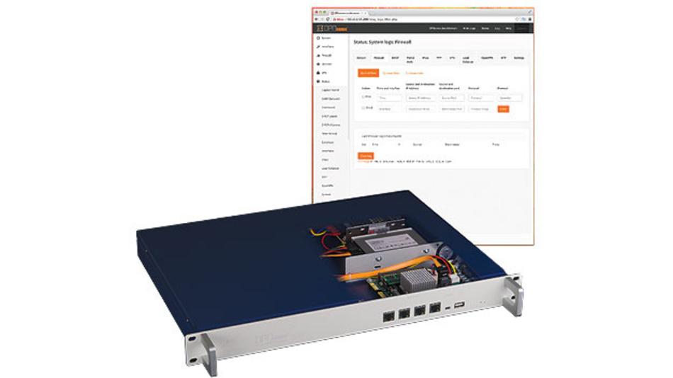 Bild 1. Das Netboard A10 von Deciso mit OPNsense-Firewall bietet einen Überblick über das Netzwerk.