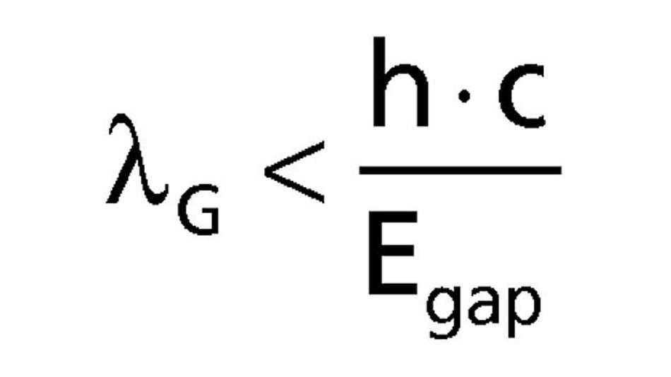 Formel. Die Grenzwellenlänge
