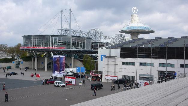 Convention Center und Halle 7 auf dem Messegelände in Hannover