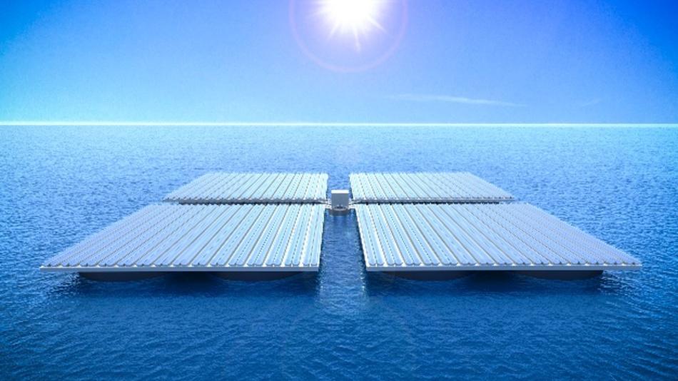 Fußballfeld-große Plattformen, die stabil auf dem Wasser treiben