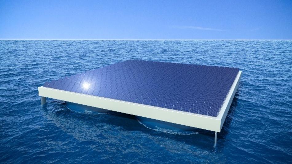 Die Auftriebskörper von Heliofloat kann man sich ähnlich vorstellen wie ein unten offenes Fass aus einem weichen, flexiblen Material, das im Wasser treibt.