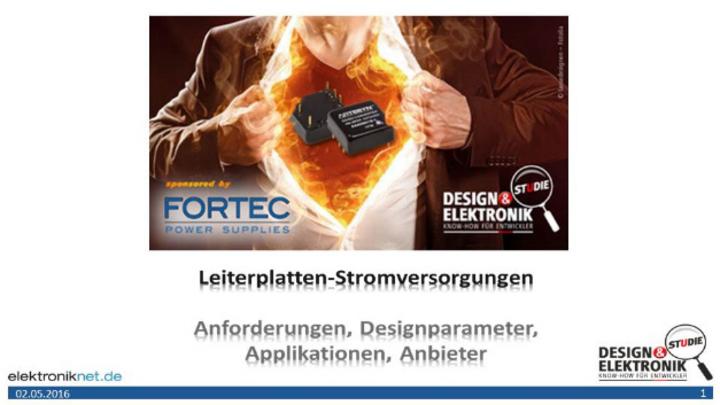 """DESIGN&ELEKTRONIK-Studie """"Leiterplatten-Stromversorgungen"""""""