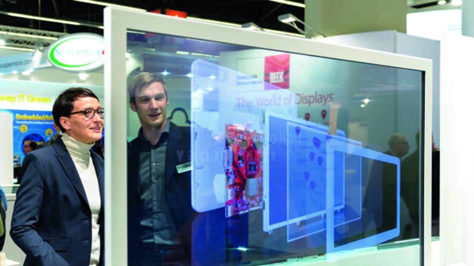 Schön sehen sie aus, die OLED-Displays - hier in transparenter und hauchdünner Ausführung. Aber sind sie nur etwas für den Konsumgütermarkt oder kann sich das gewichtsreduzierte und hinterleuchtungsfreie Display-Konzept auch in der Industrie durchsetzen?