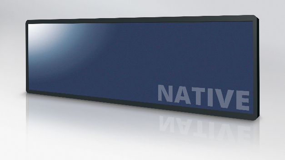 Samsungs stretched-PID-Panels mit Diagonalen von 29 und 37 Zoll im Vertrieb von Display Solution sind nicht maschinengeschnitten und haben ein Seitenverhältnis von 32:9.