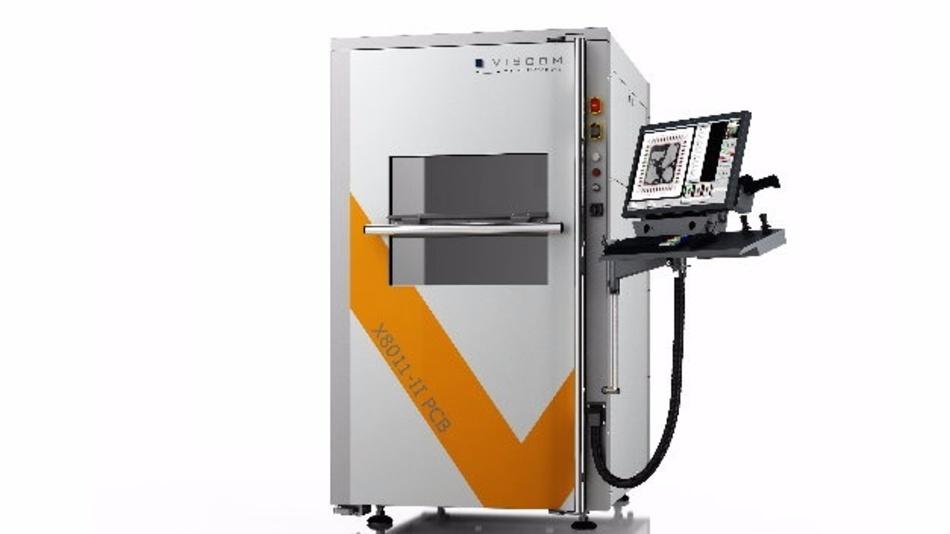 Die neue MXI-Maschine X8011-II PCB ist von außen an ihrem neuen Gehäuse mit einem großen melonengelben V zu erkennen.