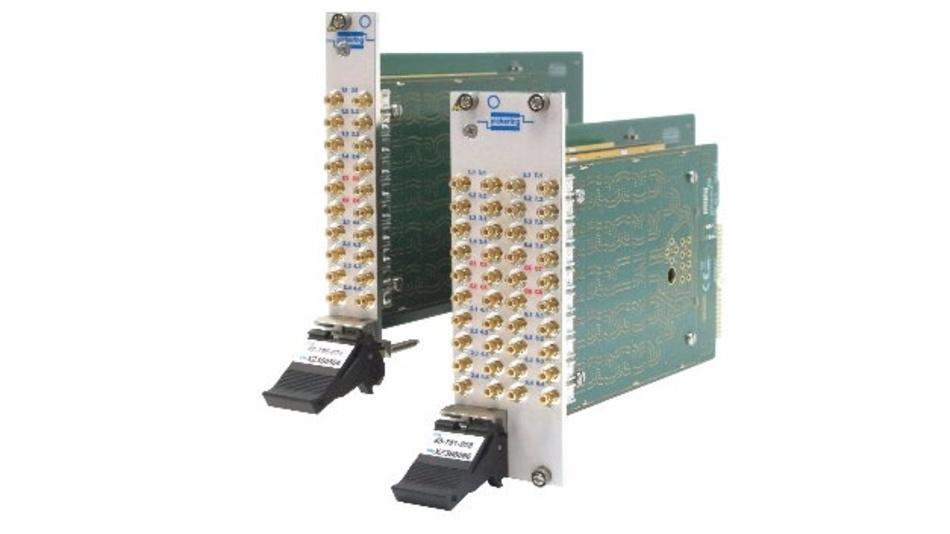 Pickering Interfaces erweitert sein Angebot an 500-MHz-PXI-Multiplexern mit 50 Ohm Impedanz um 18 neue Varianten, inklusive einer 2-Slot-32-Kanal-Version.