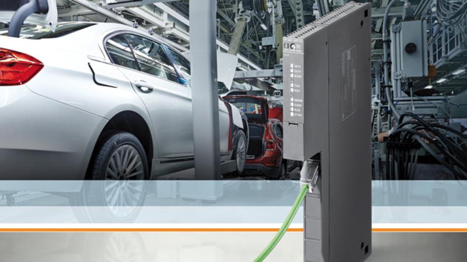 Der Kommunikationsprozessor CP 443 1 OPC UA von Siemens lässt sich als OPC-UA-Server ebenso einsetzen wie als OPC-UA-Client.