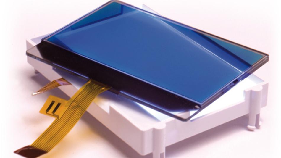 ADKOM Elektronik hilft mittelständischen Unternehmen bei der Realisierung und Beschaffung  kundenspezifischer Displays. Das Foto zeigt die Komponenten eines COG-Moduls, Backlight plus Display.