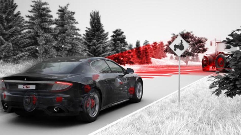 Sensorfusion verbessert die Genauigkeit   des   durch   weitere Signalverarbeitung entstehenden Fahrzeugumfeldmodells.