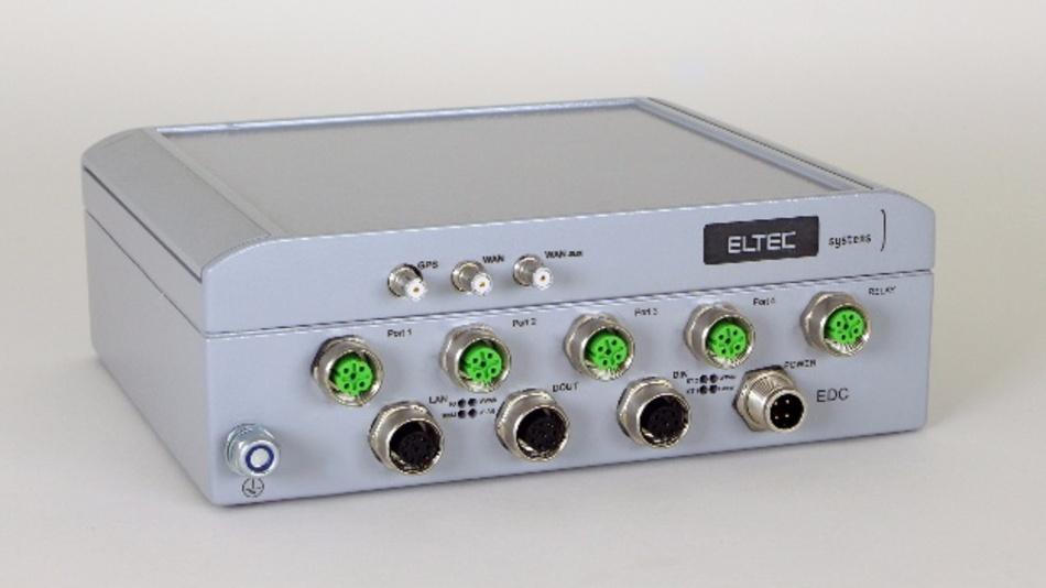 Die CyBox EDC (Ethernet Data Concentrator) sammelt Daten in mobilen Systemen und leitet diese an einen Server weiter.