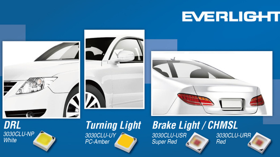 Unterschiedliche Anwendungen für Everlight-LEDs.