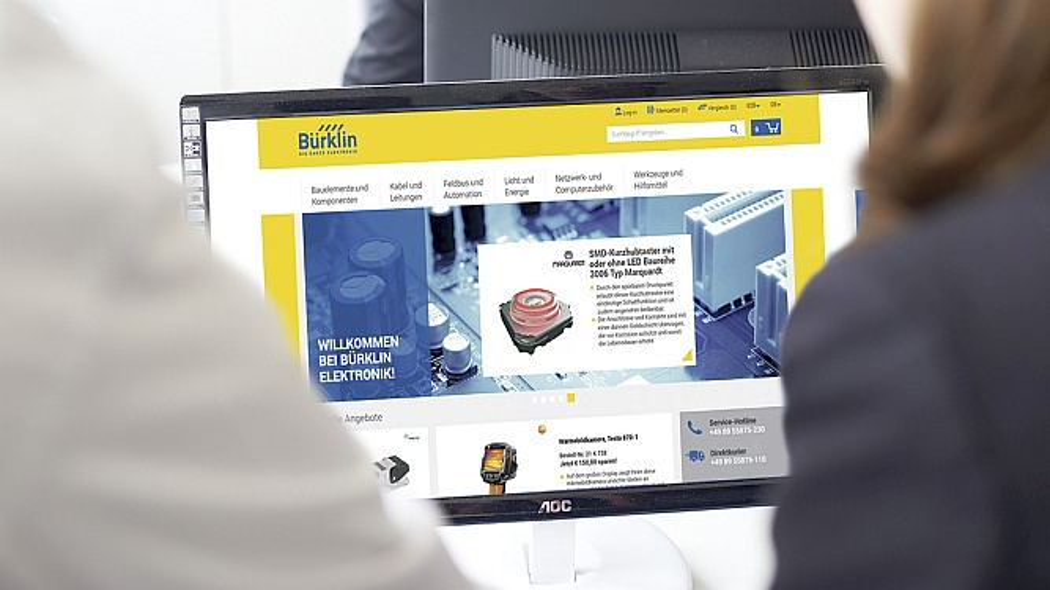 Der neue Online-Shop von Bürklin Elektronik