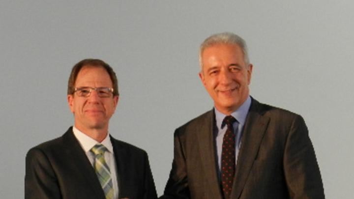 Dr. Reinhard Ploss, CEO von Infineon,und Stanislaw Tillich, Ministerpräsident von Sachsen