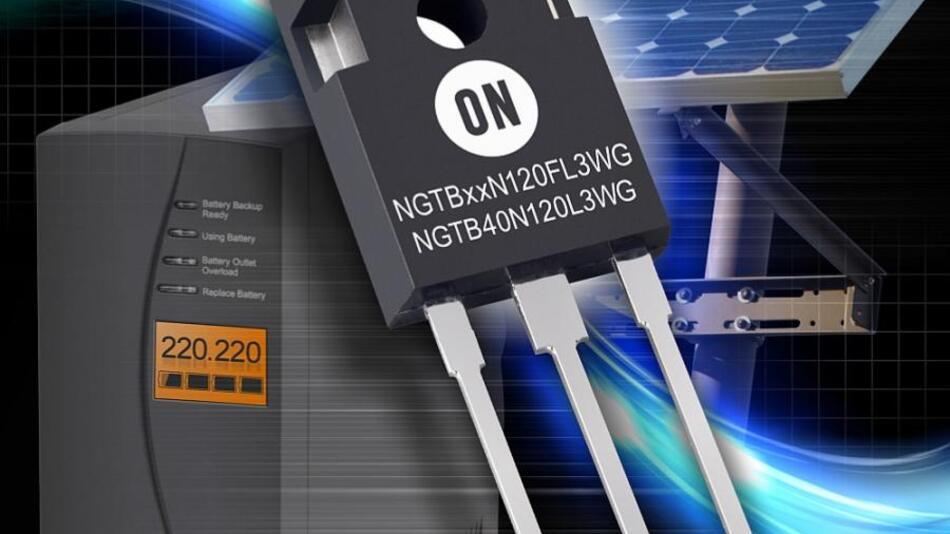 Bei Nennstrom liegt die Kollektor-Emitter-Sättigungsspannung bei 1,7 V.