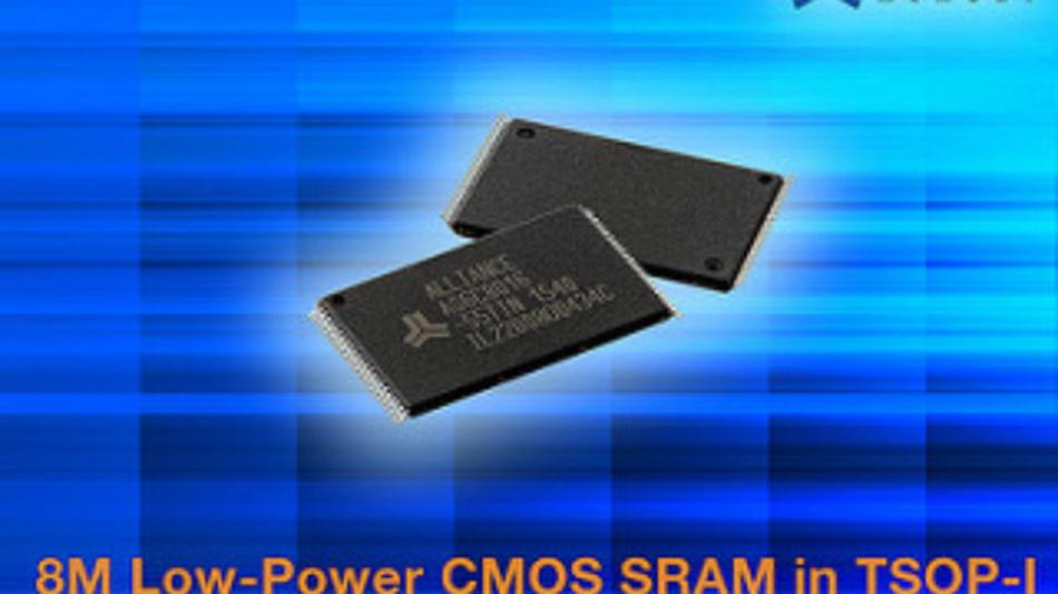Nur 30 mA Strom benötigt der AS6C8016-55TIN von Alliance Memory, ein 8-MBit-SRAM-Baustein im 48-Pin-TSOP-I-Gehäuse.