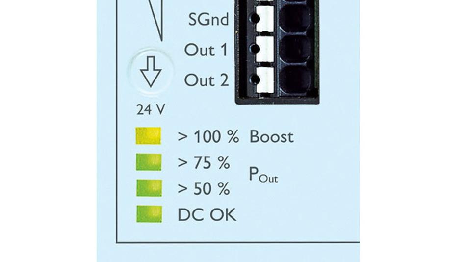 Bild 2. Die LED-Anzeige informiert zu jedem Zeitpunkt über die aktuelle Ausgangsleistung.