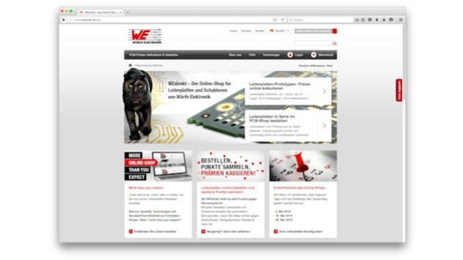Bonusprogramm des Online-Shops von Würth Elektronik