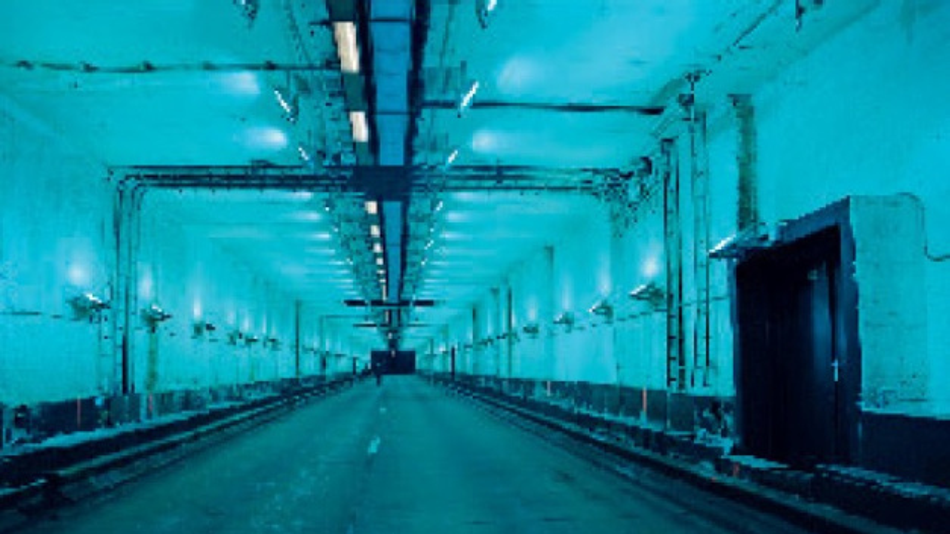 Experiment zur photokatalytischen Schadstoffreduktion im Leopold-II-Tunnel in Brüssel.