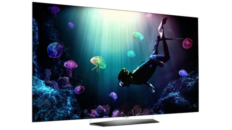 Das ist LGs B6, eins der beiden neuen OLED-TV Modelle, mit dem der südkoreanische Hersteller die Preishürde für die anspruchsvoll zu fertigenden Geräte weiter abbauen will.