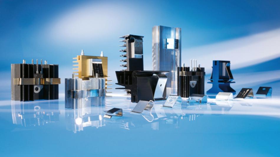 Clip- und Federlösungen sorgen für einen dauerhaften thermischen Kontakt  und damit für einen gleichbleibend guten Wärmeübergang  vom Halbleiter zum Kühlkörper.