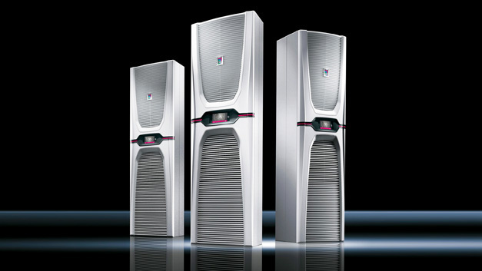 Rittals Schaltschrank-Kühlgeräte der Serie Blue e+ übertragen künftig Geräteinformationen in übergeordnete Systeme und eröffnen so neue Möglichkeiten wie Asset Management,  Condition Monitoring und Predictive Maintenance