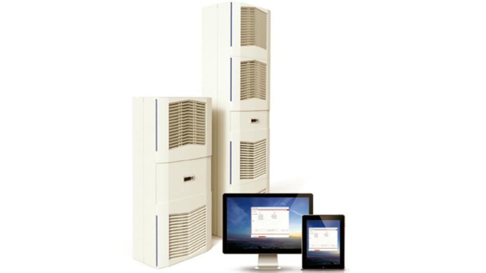 Elmekos Kühlgeräte der Slim-Fit-Serie lassen sich via Web mittels PC und Tablet weltweit überwachen und steuern.