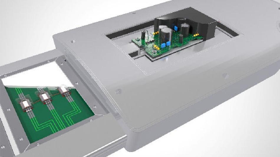 Das neue wärmeleitfähige Technomelt-Material kombiniert Wärmeableitung und Verkapselung.